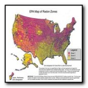 radon hazard zone map