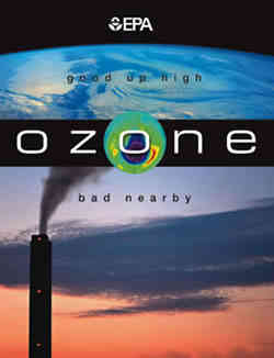 Ozone is good up high, but bad nearby.