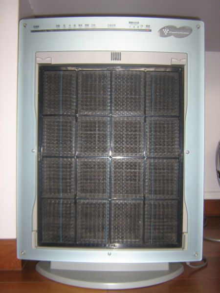Inside of the Sharp Plasmacluster purifier.