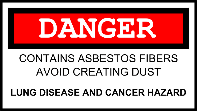 Asbestos Danger Sign Lung Disease Cancer Hazard