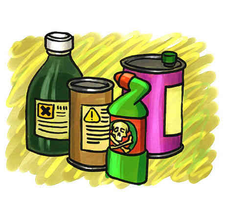 Hazardous chemical products are often major indoor air pollution causes.