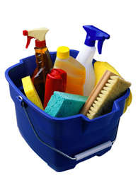 Household Products used in cleaning house