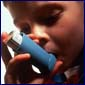 African American child with inhaler