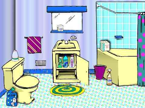 Limit bathroom household chemicals and moisture.