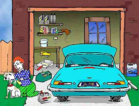 Garages may contain thousands of Automotive Household Chemicals, Products, and Household Hazardous Materials.