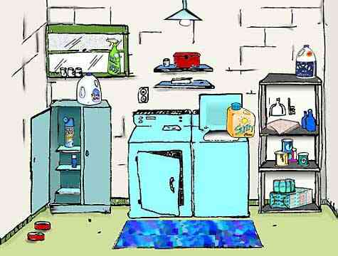Luandry room household chemicals and products are responcible for some of the most polluted indoor air of any part of the home.