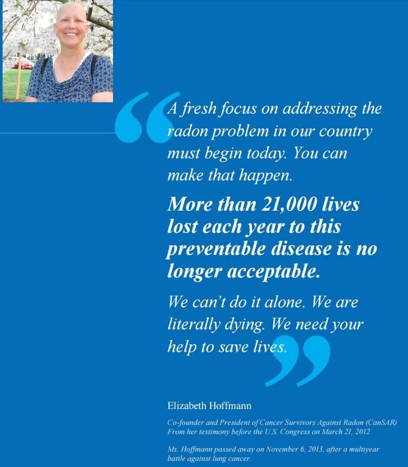 Radon CanSAR founder quote Elizabeth Hoffmann