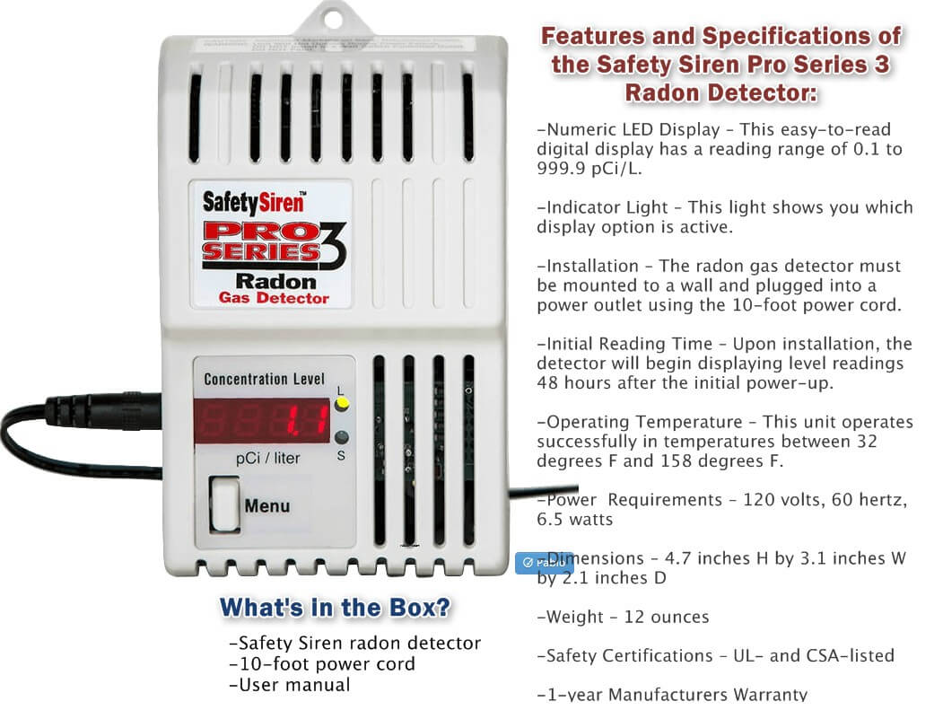 Image of Radon Detector Safety Siren Pro