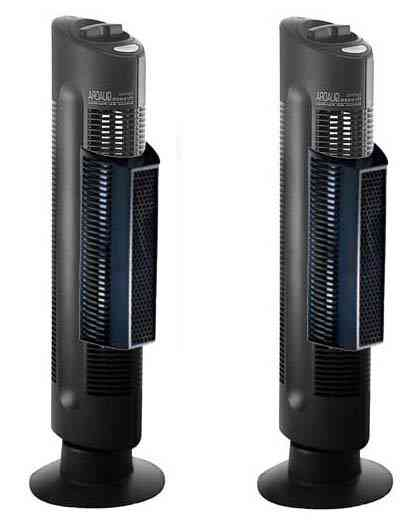 Sharper Image  Ionic Breeze 4.0 Quadra Silent Air Purifier.