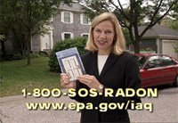 Call 1-800-SOS-RADON for help from the EPA