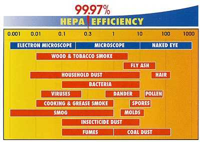 IQAir Hepa air filters are close to 100% efficient for the smallest of particles