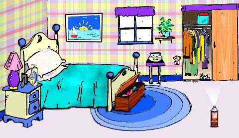 Remove bedroom household chemicals and creature to allergy proof your bedroom.