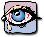 Watery eyes or burning eyes is a very common Allergy Symptom.